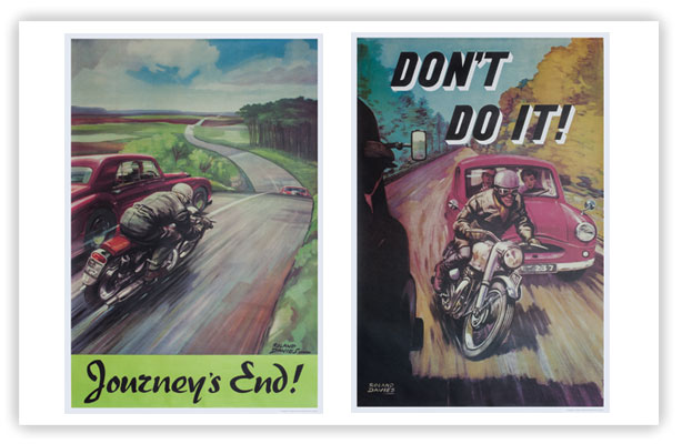 Classic Motorcycle Safety Posters