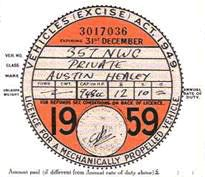 Last of the Old Tax Discs