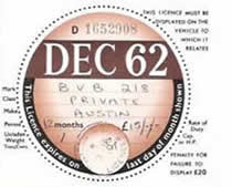 New Style Tax Disc