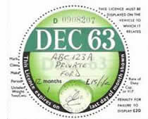 Anti Forger Tax Disc